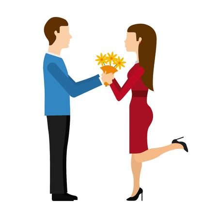 propuesta de matrimonio: marriage proposal design, vector illustration eps10 graphic