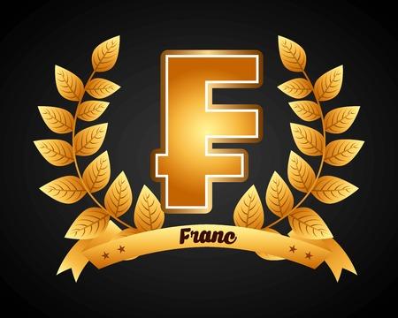 franc: franc symbol design, vector illustration eps10 graphic Illustration