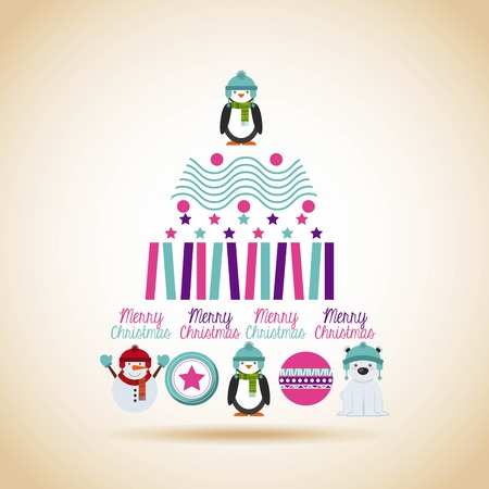 natura: happy merry christmas card design, vector illustration eps10 graphic