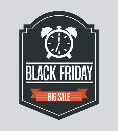 big timer: black friday deals design, vector illustration eps10 graphic Illustration