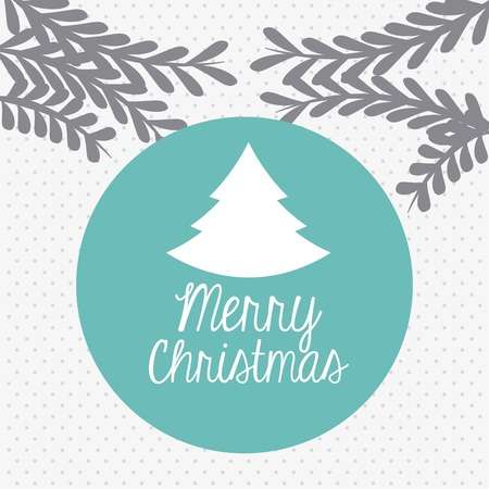 happy merry christmas card design, vector illustration eps10 graphic