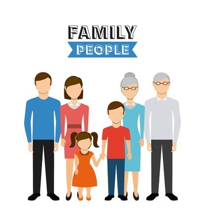 abuelo: diseño de las personas de la familia, ejemplo gráfico del vector eps10