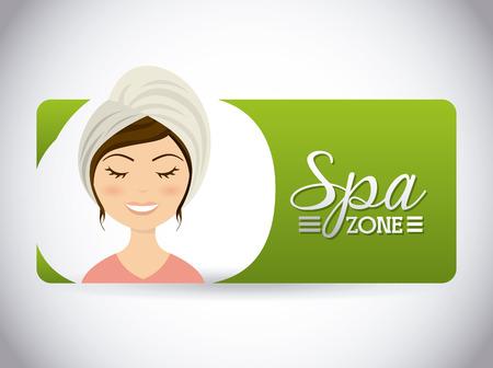 d�tente: spa design espace d�tente, illustration graphique Illustration