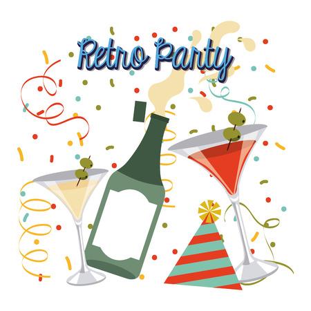 celebration party: retro party celebration design, vector illustration  graphic