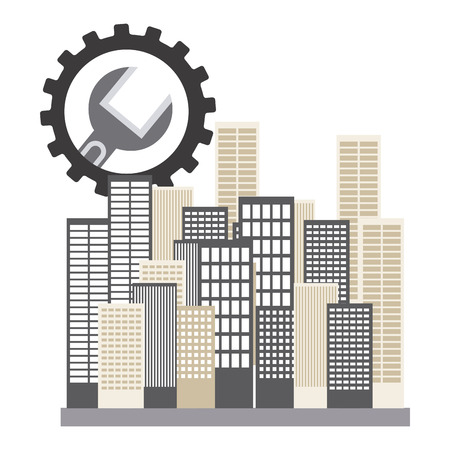 option key: repair service design, vector illustration eps10 graphic