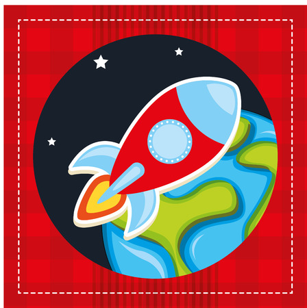 rocket launch: rocket launch  design, vector illustration graphic