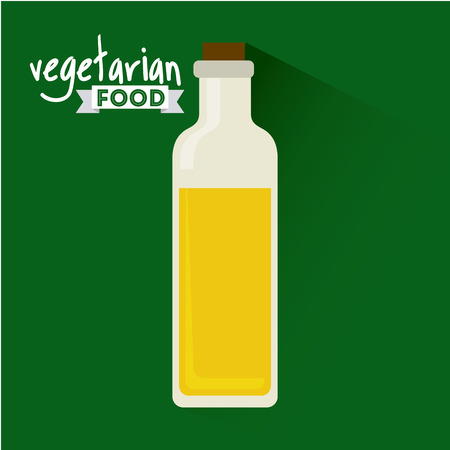 cooking oil: vegetarian and healthy food design, vector illustration   graphic