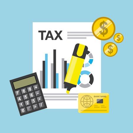 tax concept design, vector illustration