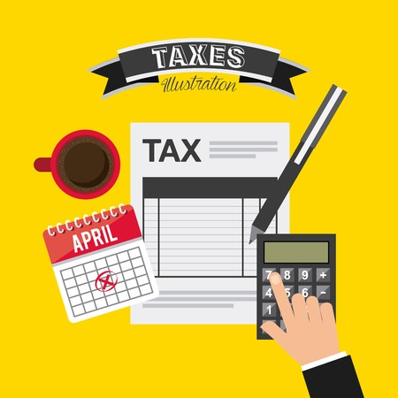 internal revenue service: tax concept design, vector illustration