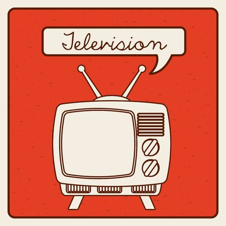 vintage television: television icon design, vector illustration   graphic