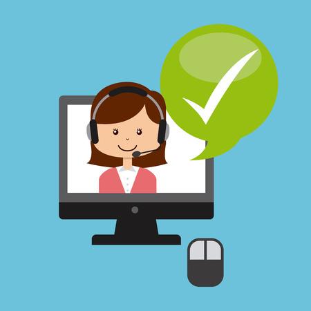 customer service design, vector illustration   graphic