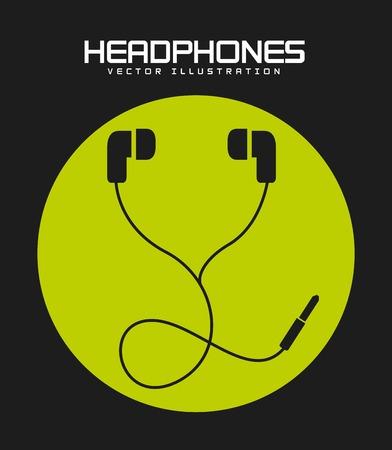 audio plug: digital music design, vector illustration   graphic
