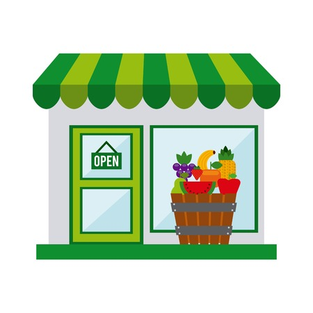 market place: organic food design, vector illustration   graphic