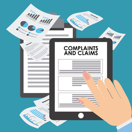 finance department: complaints and claims design, vector illustration   graphic