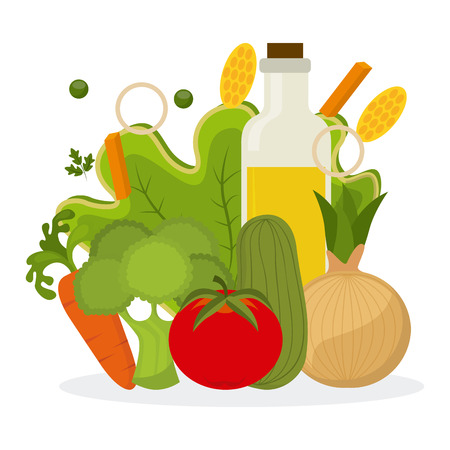 vegetarian and healthy food design, vector illustration   graphic