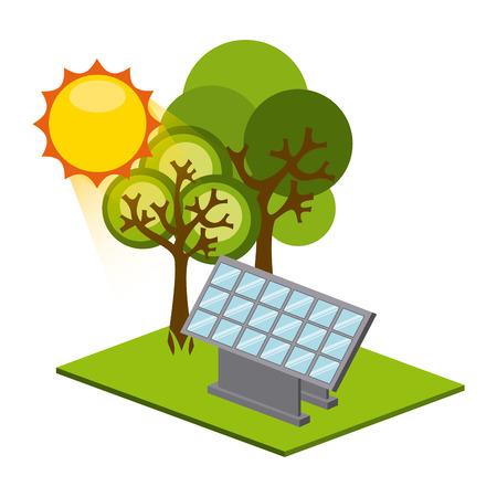 tress: solar energy design, vector illustration   graphic Illustration