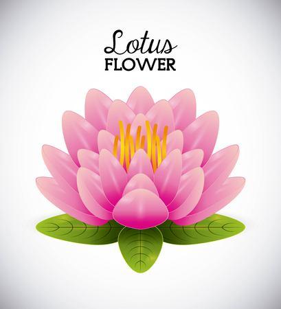 Flower: loto disegno del fiore, illustrazione grafica vettoriale