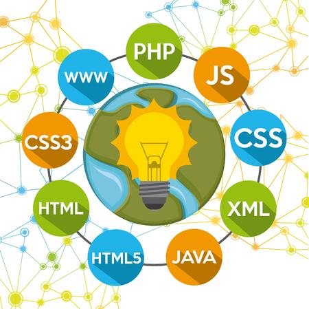 css3: programming language design, vector illustration   graphic Illustration