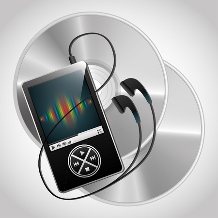 digital music: digital music technology design, vector illustration   graphic