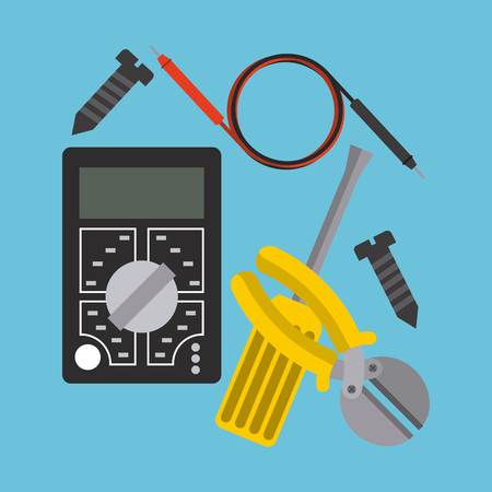 tester: electricity service  design, vector illustration   graphic Illustration