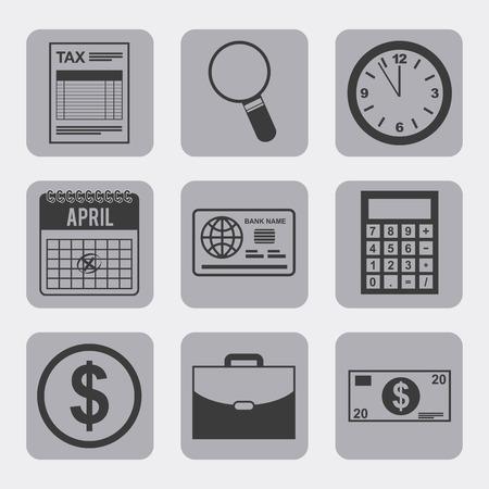 internal revenue service: tax concept design, vector illustration eps10 graphic