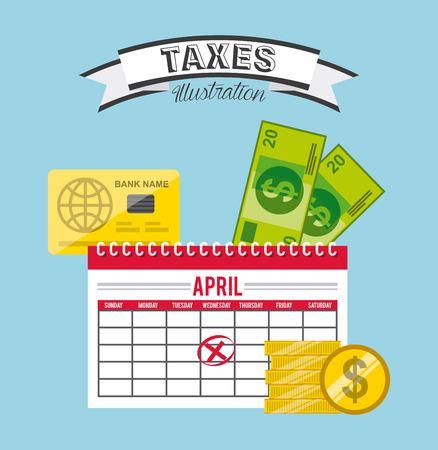 internal revenue service: tax concept design, vector illustration   graphic
