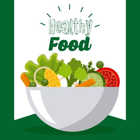 vegetarische en gezonde voeding ontwerp, vector illustratie grafische