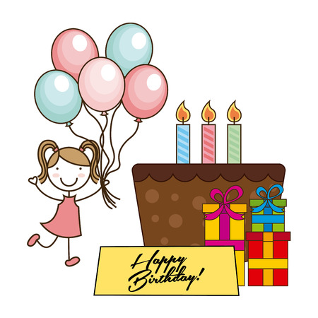 birthday invitation: birthday invitation design, vector illustration   graphic Illustration