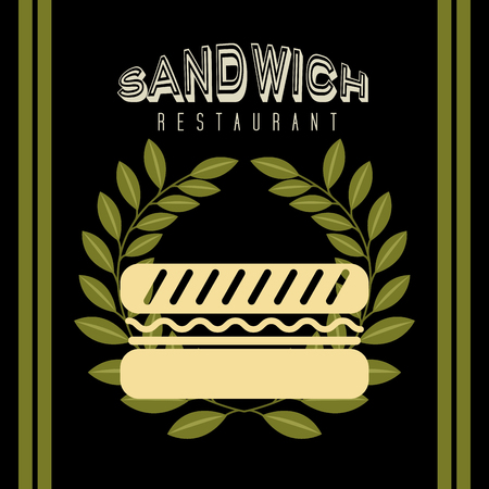 deli meat: sandwich restaurant design, vector illustration   graphic