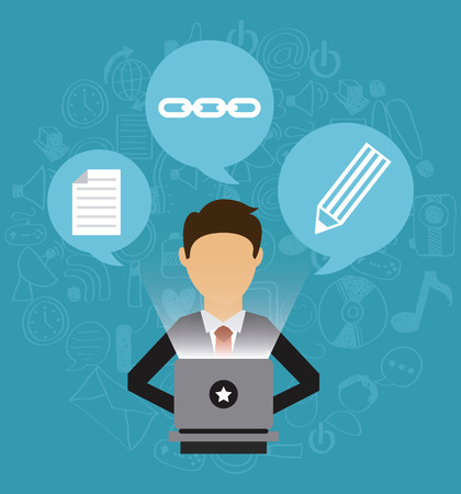 conferencing: business online design, vector illustration   graphic