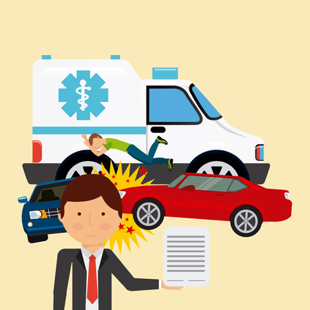 emergency services occupation: car insurance design, vector illustration   graphic