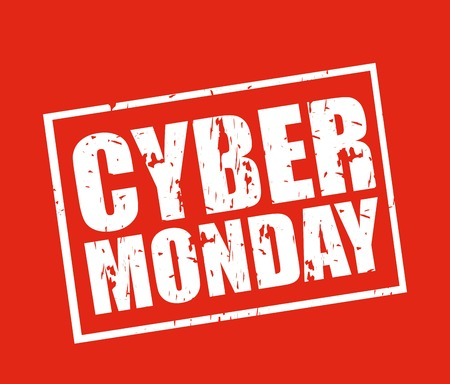 rubber: cyber monday deals design, vector illustration   graphic