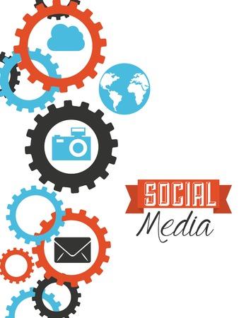 global settings: social media design, vector illustration   graphic