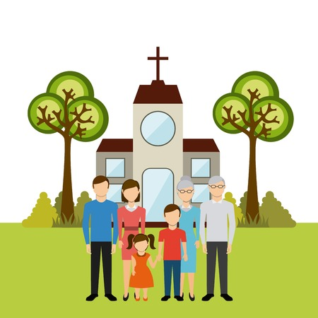 3 042 Family Church Cliparts Stock Vector And Royalty Free Family