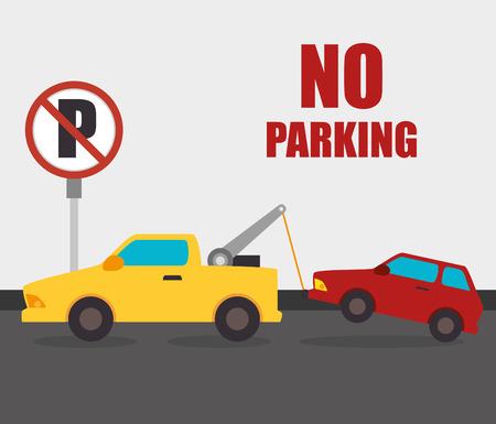 cars on road: Parking or park zone design, vector illustration. Illustration