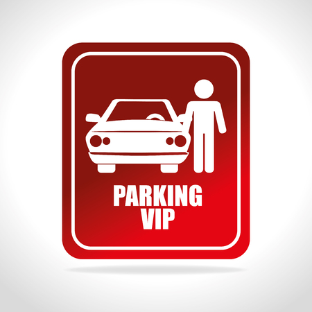vip area: Parking or park zone design, vector illustration. Illustration