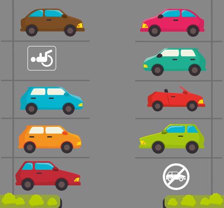 urban road: Parking or park zone design, vector illustration. Illustration