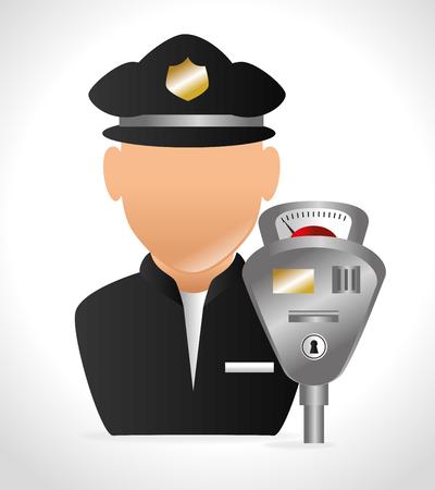 drive ticket: Parking or park zone design, vector illustration. Illustration