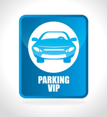 vip area: Parking or park zone design, vector illustration. Illustration