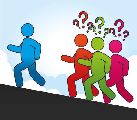proposition: Follow me social network theme, vector illustration Illustration