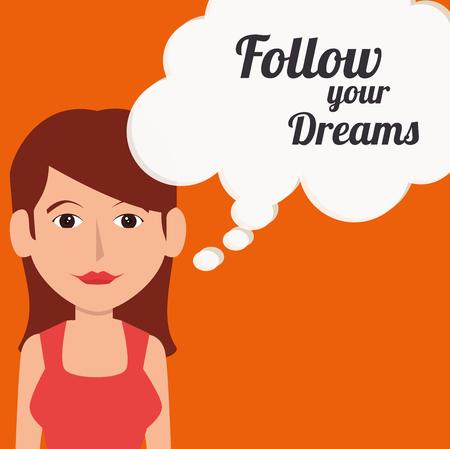 follow me: Follow me social network theme, vector illustration Illustration