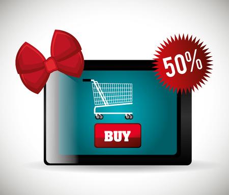 monday: Cyber monday ecommerce shopping design, vector illustration.