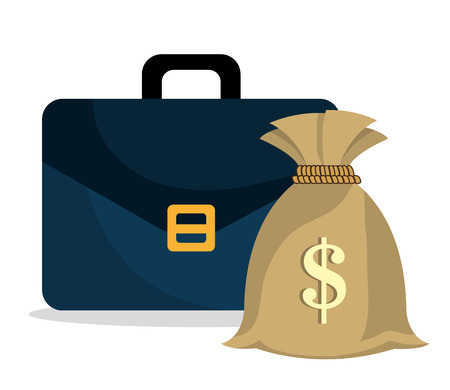 abundance of money: Money saving and business graphic design, vector illustration