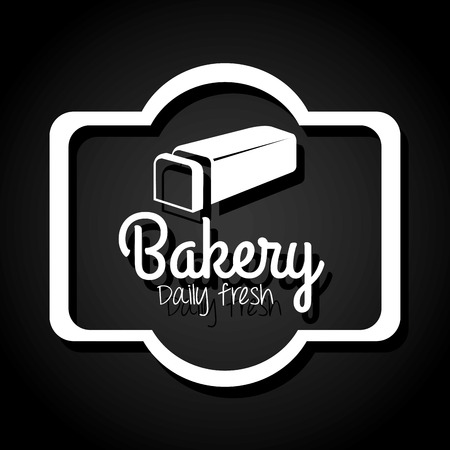 ailment: Bakery shop delicious and fresh bread theme, vector illustration. Illustration