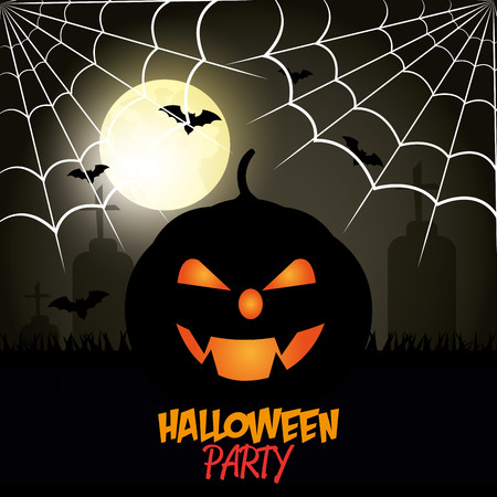 festival vector: Happy halloween party festival, vector illustration