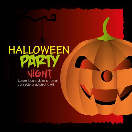 devi: Happy halloween party festival, vector illustration