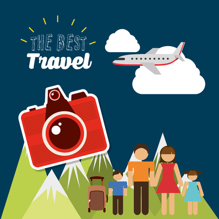 family vacation: travel vacations design, vector illustration   graphic