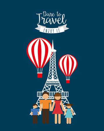 travel vacations design, vector illustration eps10 graphic Illustration