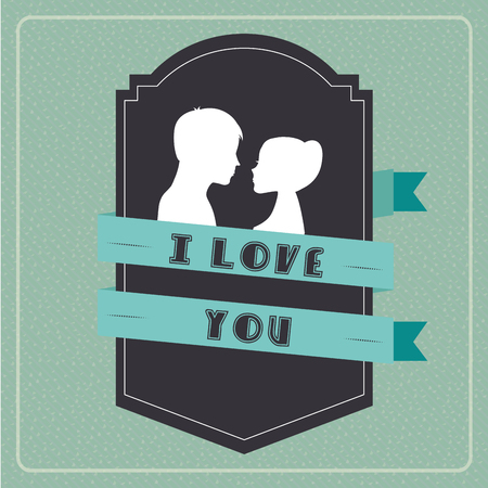 love card: love card design, vector illustration eps10 graphic Vectores