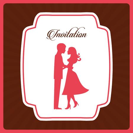 love card: wedding invitation design, vector illustration eps10 graphic Illustration